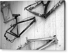Well Worn Mountain Bike Frames  Acrylic Print