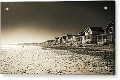 Wells Beach Maine Inrared Acrylic Print by Edward Fielding