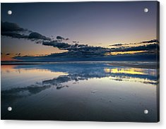 Acrylic Print featuring the photograph Wells Beach Reflections by Rick Berk