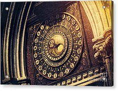 Wells Cathedral Astronomical Clock  Acrylic Print by Tim Gainey