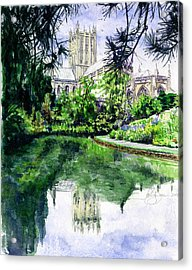 Wells Cathedral Acrylic Print by John D Benson