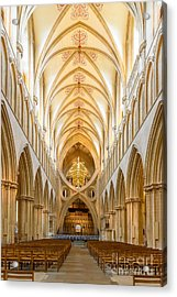 Wells Cathedral Nave Acrylic Print