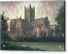 Wells Cathedral Acrylic Print by Paul Braddon