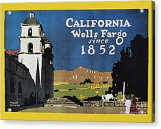Wells Fargo Banner, 1917 Acrylic Print by Granger