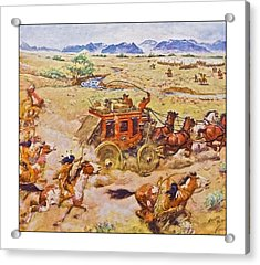 Wells Fargo Express Old Western Acrylic Print