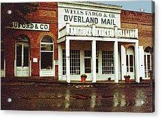 Wells Fargo Ghost Station Acrylic Print