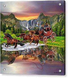 Wells Fargo Stagecoach Acrylic Print
