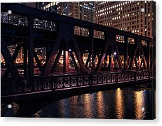 Wells Street Bridge II Acrylic Print