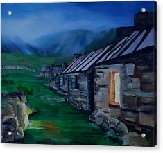 Welsh Cottage Acrylic Print