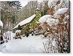Welsh Cottage Acrylic Print by Richard Outram