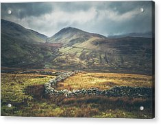 Welsh Mountainous Farmland Acrylic Print