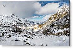Welsh Valley Snowfall Acrylic Print