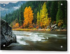 Acrylic Print featuring the photograph Wenatchee Riverside by Dan Mihai