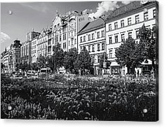 Acrylic Print featuring the photograph Wenceslas Square In Prague by Jenny Rainbow
