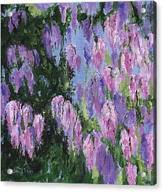 Acrylic Print featuring the painting Wendy's Wisteria by Jamie Frier