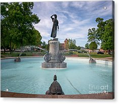 Acrylic Print featuring the photograph Wenonah Fountain Winona Mn by Kari Yearous