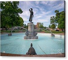 Wenonah Fountain Winona Mn Acrylic Print