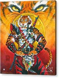 Werecat Warrior Acrylic Print by Melissa A Benson