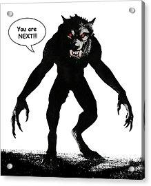 Werewolf Comic Illustration 1 Acrylic Print