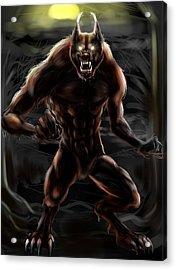 Werewolf Acrylic Print by Natalie Gillham