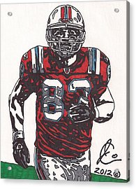 Wes Welker Acrylic Print by Jeremiah Colley