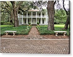 Wesley House Front Acrylic Print by Sandy Keeton