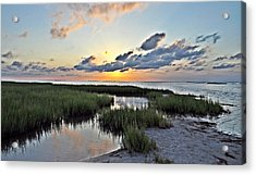 West Bay Sunset Acrylic Print by John Collins