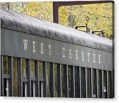 West Chester Railroad - Passenger Car Acrylic Print