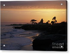 West Cliff At Sunset Acrylic Print by Stan and Anne Foster