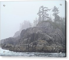 West Coast Landscape Ocean Fog I Acrylic Print