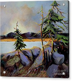 Acrylic Print featuring the painting West Coast Sky by Marta Styk