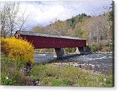 West Cornwall Ct Covered Bridge Acrylic Print