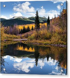 Acrylic Print featuring the photograph West Elk Range Reflection by The Forests Edge Photography - Diane Sandoval
