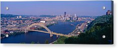 West End Bridge At The Three Rivers Acrylic Print by Panoramic Images
