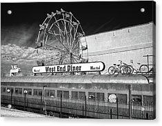 Acrylic Print featuring the photograph West End Diner by James Barber