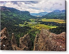 West Fork Valley View Acrylic Print by Loree Johnson