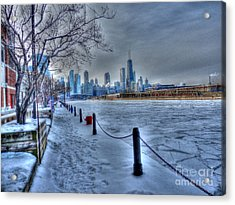 West From Navy Pier Acrylic Print by David Bearden