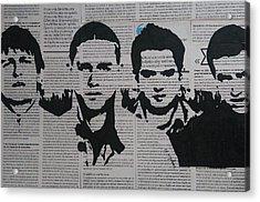 Street Art Painting, Stencil-graffiti Style, West Ham Fans - Urban Figure Acrylic Print