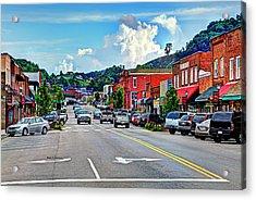 West Jefferson Streetscape Acrylic Print by Dale R Carlson