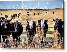 Acrylic Print featuring the digital art West Kansas Economics by JC Findley