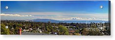 West La And Catalina Island From Pacific Palisades Acrylic Print