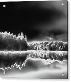 Acrylic Print featuring the photograph West Lake Backlit by David Patterson