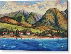Acrylic Print featuring the painting West Maui Living by Darice Machel McGuire