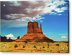 West Mitten Under A Monsoon Sky Acrylic Print