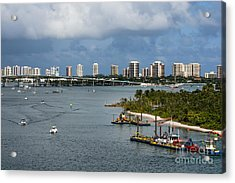 West Palm Beach Skyline Acrylic Print
