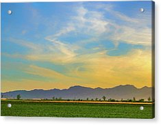 West Phoenix Sunset Digital Art Acrylic Print