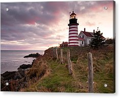 West Quoddy Head Light Acrylic Print by Patrick Downey