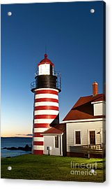 West Quoddy Head Lighthouse Maine Acrylic Print by John Greim