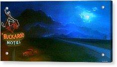 West Texas Moon Acrylic Print by Jon Paul Price