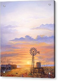 West Texas Sundown Acrylic Print